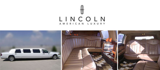 Rent a Lincoln limousine for a glamourous wedding