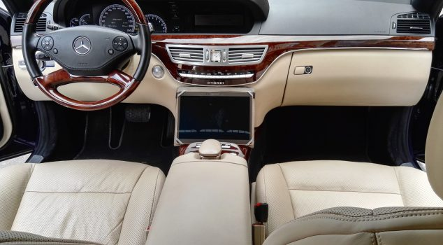 Mercedes S class interior front , leather seats