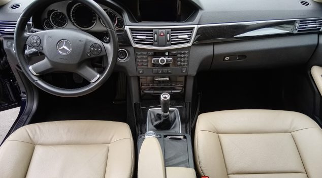 Mercedes e class interior front, leather seats. Transfer ,Baneasa International Airport (Bucharest)